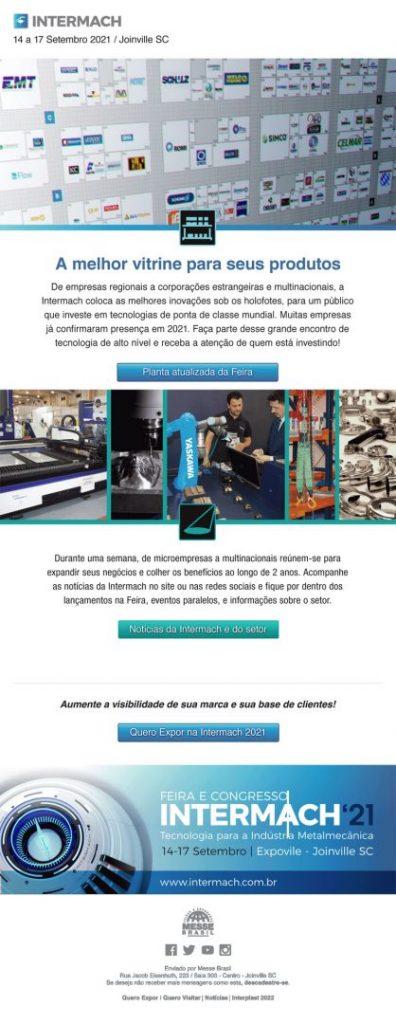 INTERMACH - FEIRA INDÚSTRIA METALMECANICA - FEIMEC - EXPOMAFE - AUTOMAÇÃO INDUSTRIAL - INDÚSTRIA 4.0 - ABIMAQ